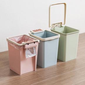 卫生间压圈方形垃圾桶厨房无盖垃圾篓创意家用客厅卧室塑料小纸篓