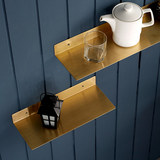 Nordic Brass Simple Wall Shelf Home Shelf Decoration Shelf Bathroom Layer Shelf Japanese Shelf