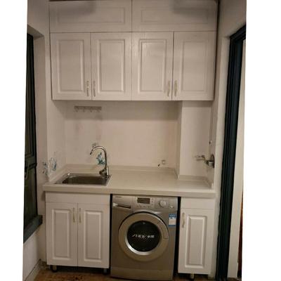 上海定制阳台洗衣机柜滚筒洗衣机柜定做浴室柜组合洗衣柜定制吊柜