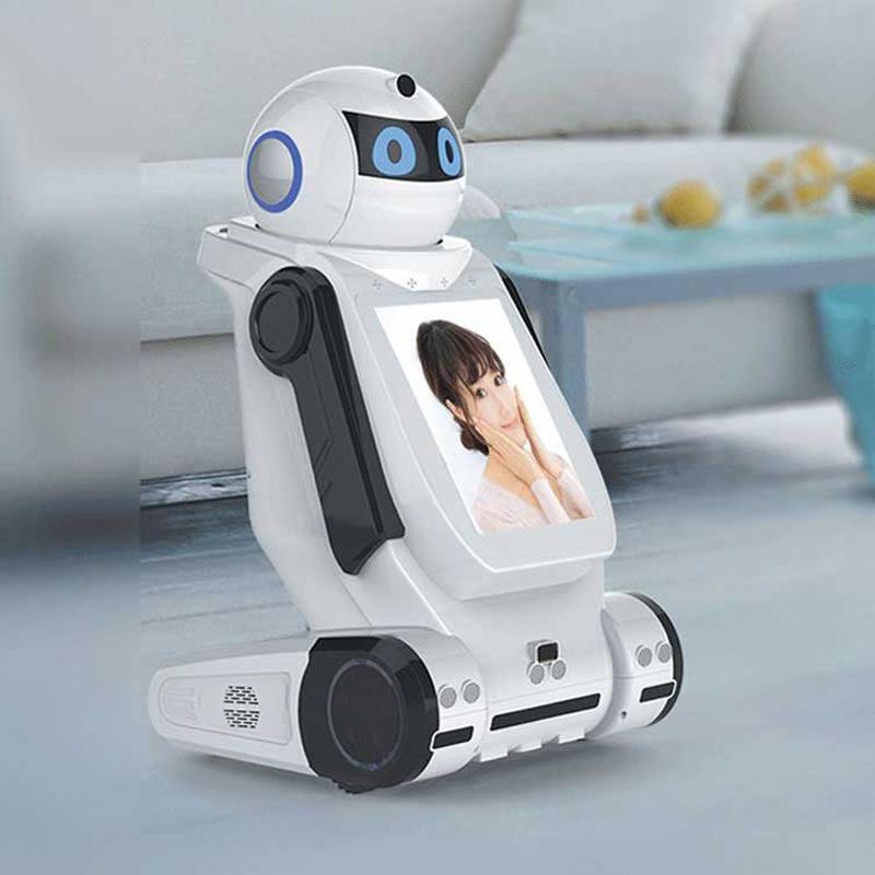 热卖 英语家庭服务儿童教育互动机器人智能设备锐曼