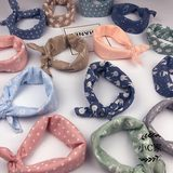 Baby cotton scarf scarves small square baby saliva towel children windproof scarf boys and girls triangle scarf scarf