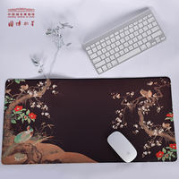 China National Museum Creative Rubber Mouse Pad Medium Thicken Locking Desk Mat Keyboard Pad Gift