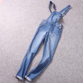 炒鸡好看 女士牛仔背带裤 春季新品 我喜欢看妹纸穿背带裤 减龄潮