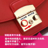 Original cowhide customized high quality F family Metropolis ladies bag FULA chain button small square bag leather