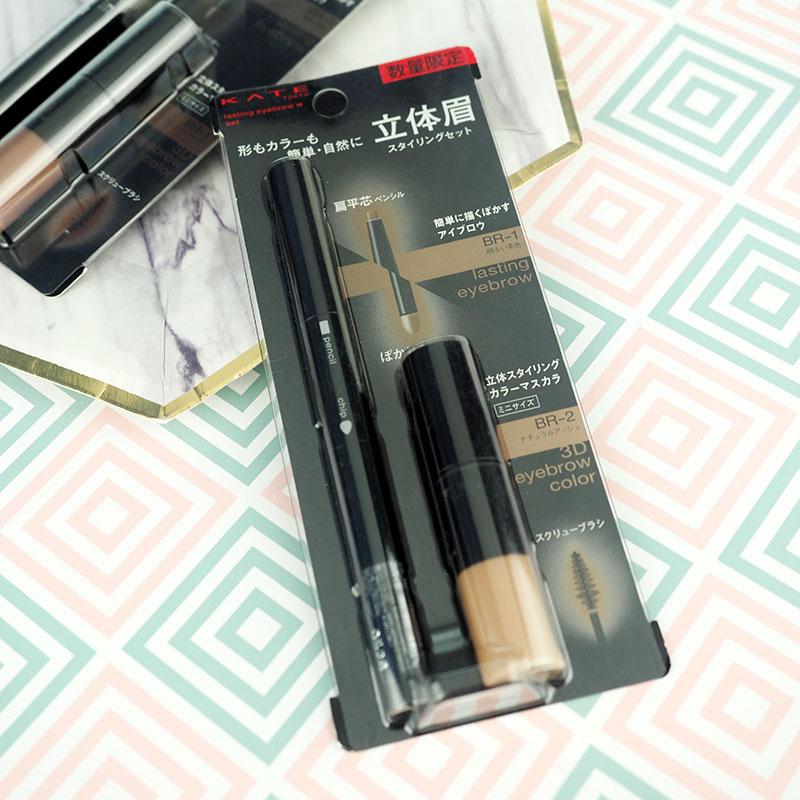 日本 KATE 限定套装 扁平头眉笔眉粉双头笔 +染眉膏 两色选图片