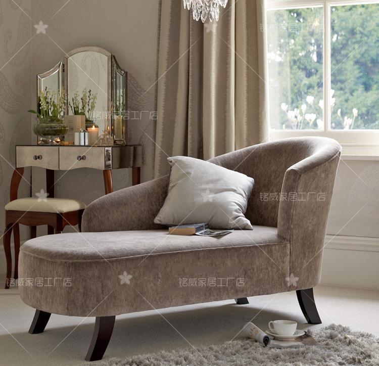 新品美式乡村新古典客厅卧室布艺贵妃椅转角沙发懒人榻美人榻