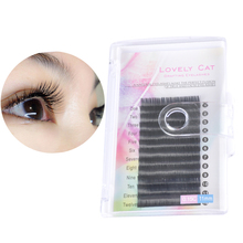 Grafted eyelashes 0.15 thick and super soft South Korea planted hollow flat hair natural, realistic, super soft soft water mink hair.