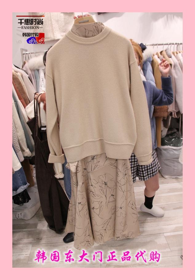 韩国正品代购新款女装Lavie 女圆领落肩运动衫均码