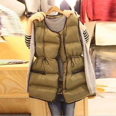 2018 autumn and winter new waist vest down thick warm Korean version of the loose hundred