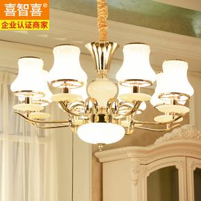欧式水晶吊灯客厅灯后现代简约主卧室灯温馨简欧铁艺创意餐厅灯具