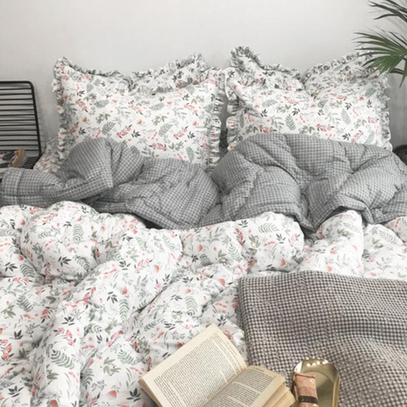 韩国正品 新品春秋保暖被双人单人空调被被子枕套2张床单四件套