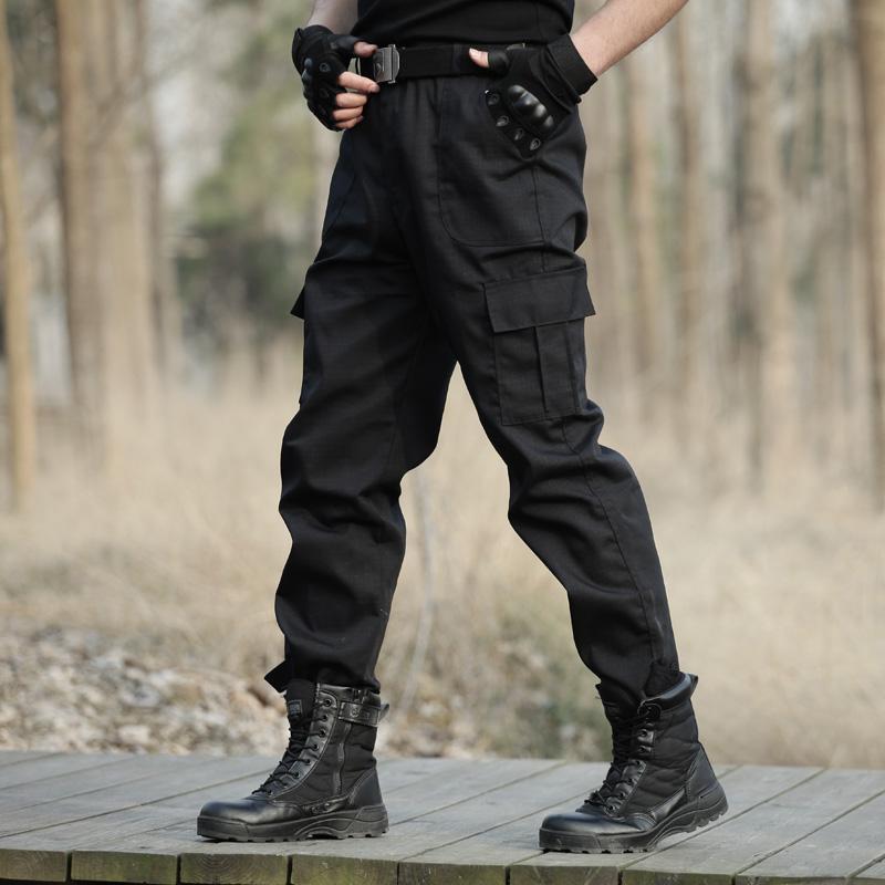 男黑迷彩裤