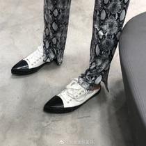 SS91111206春季新款浅口低跟中空时尚单鞋女鞋2019星期六Sat&St