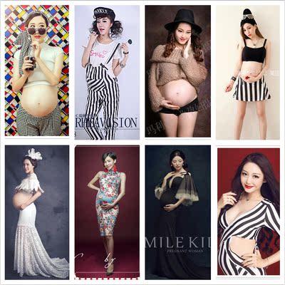 新款韩版 影楼孕妇装2018孕妇写真服装 时尚孕妇拍照妈咪摄影衣服