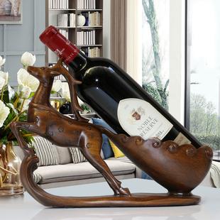 红酒架摆件酒柜装饰品现代客厅电视柜摆设梅花鹿酒托乔迁新居礼品