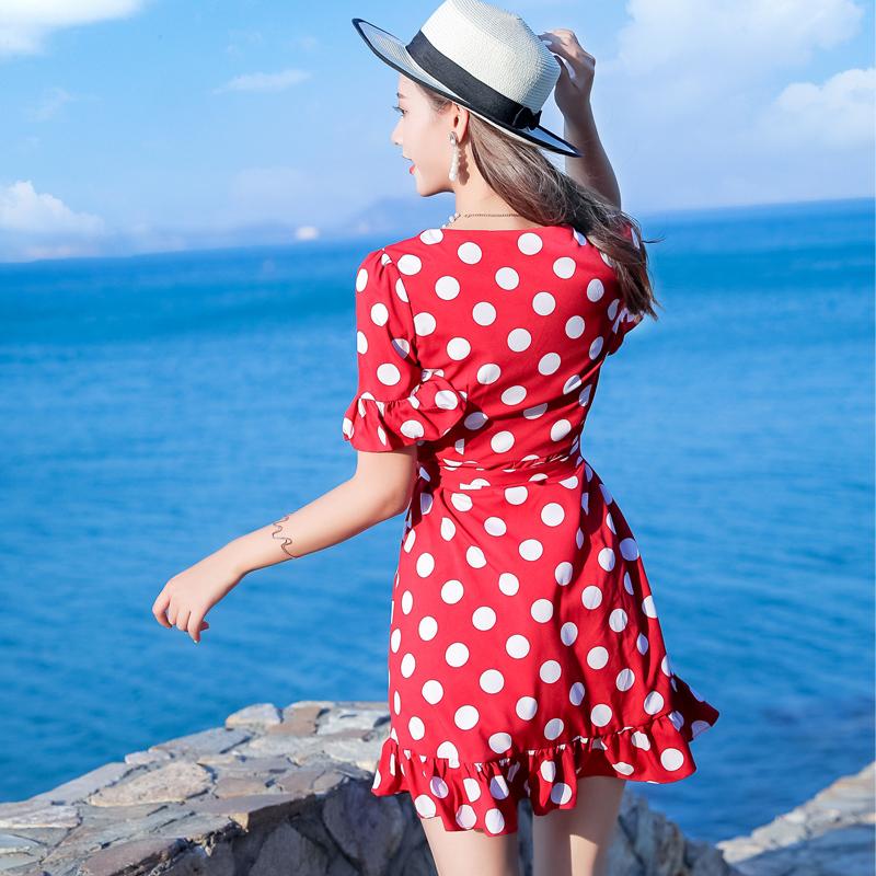 亲子装夏连衣裙洋气公主雪纺夏季宽松时尚海边度假2019新款母女裙