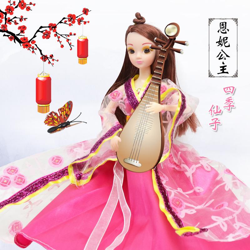 中国古装娃娃 换装四季公主娃娃礼盒装 女孩过家家儿童玩具
