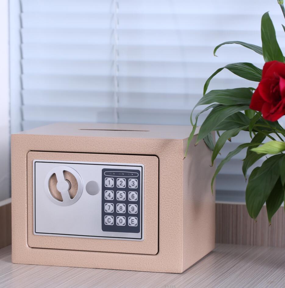 包邮小型全钢保险柜家用 保险箱迷你入墙床头 电子密码保管箱办公