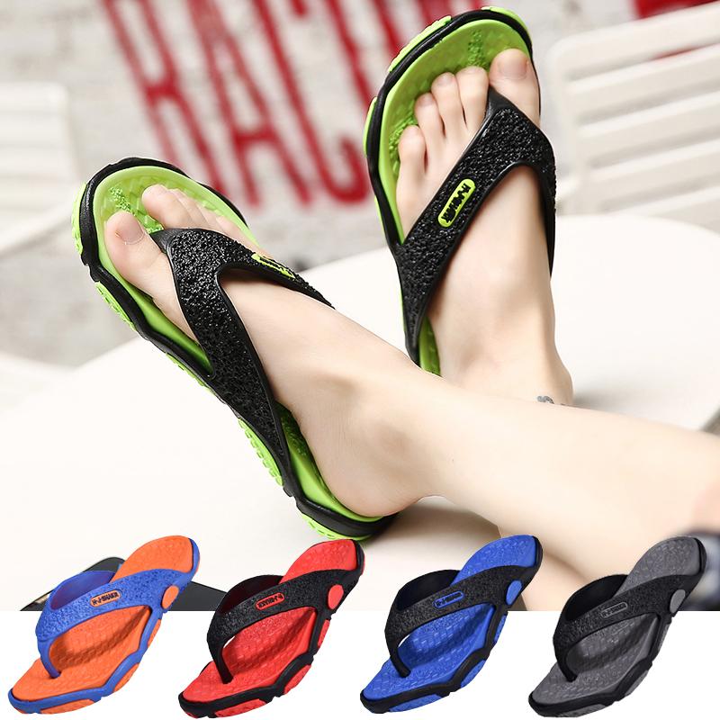 夏季拖鞋沙滩塑料凉鞋塑胶凉拖青少年男女脱鞋扦鞋中学生人字拖潮