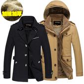 帅气夹克外套清仓潮流 修身 加绒加厚保暖纯棉衣服青年大码 冬季男士