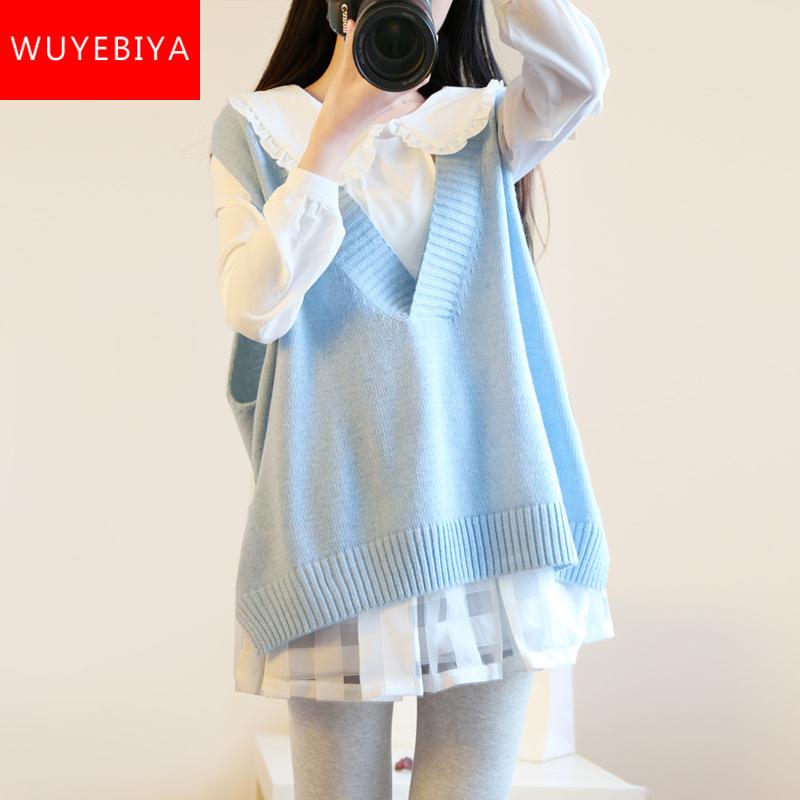 学生装娃娃领毛衣