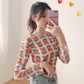 夏季泫雅风打底衫薄款长袖t恤女装宽松上衣2019新款韩版学生体恤图片