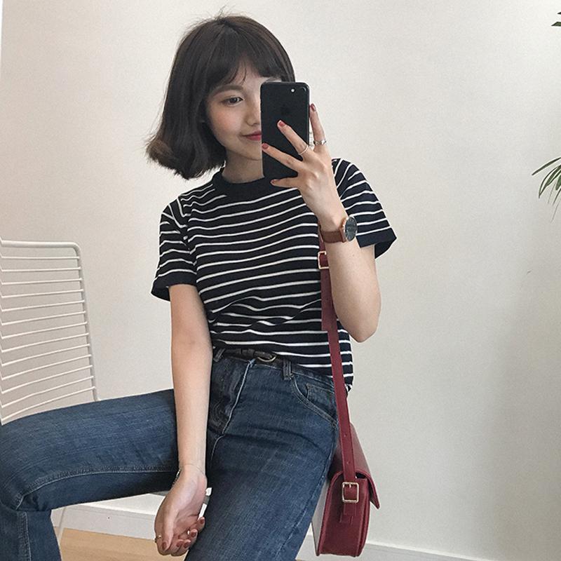 條紋薄t恤