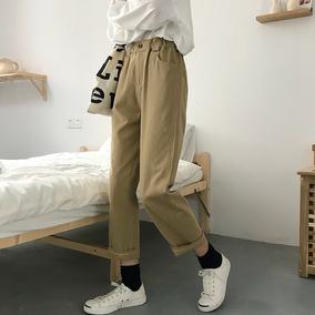 2018秋季新款韩版宽松显瘦九分休闲阔腿裤高腰显瘦裤子学生女装潮