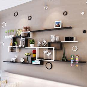 墙上置物架客厅沙发餐厅电视背景墙壁挂装饰墙柜卧室房间墙面隔板