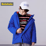 Balla Balla Boys in the big clothes 2019 new autumn and winter children's jacket thickening hooded shirt anti-season