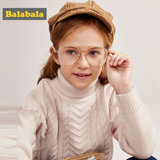 Balabala girl sweater autumn and winter children's blouse knit sweater sweater hairshirt Korean version of the woman