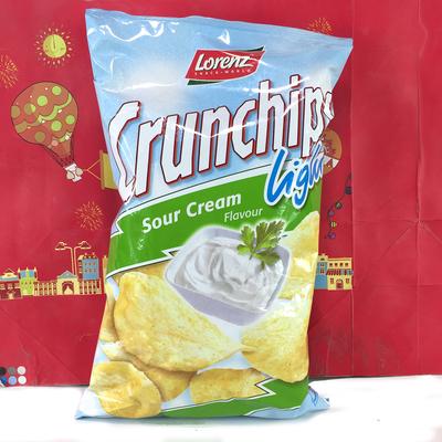 德国进口劳伦兹清新淡酸奶油味薯片90克(膨化食品)休闲零食小吃