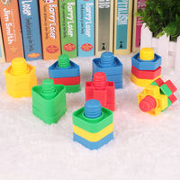 Building blocks toys 1-2 years old screw pairing nut combination fight building blocks spelling puzzle intellectual development toys
