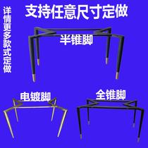 收缩架子餐台脚圆方桌腿麻将支架便携式折叠收缩矮金属架不锈钢腿
