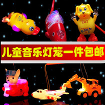 2019 New rotating projection music year Lantern children cartoon Portable will run electric luminescent toy batch