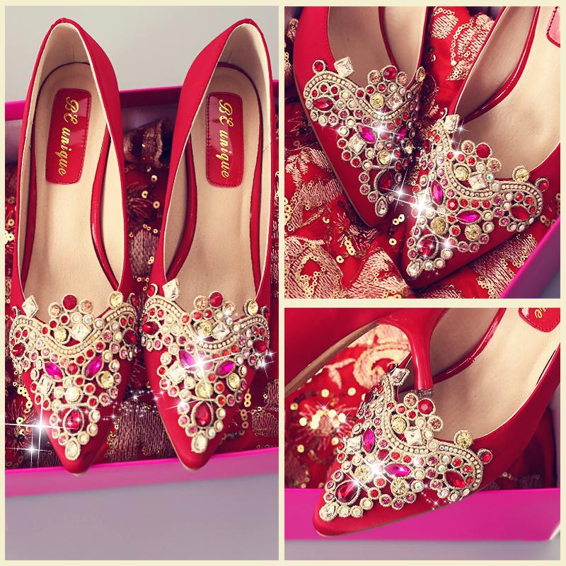 新娘结婚细跟高跟鞋
