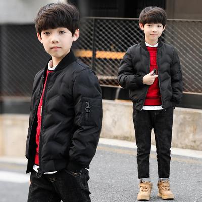 男童冬装轻薄棉衣外套2018新款韩版儿童短款棉袄中大童加厚棉服潮