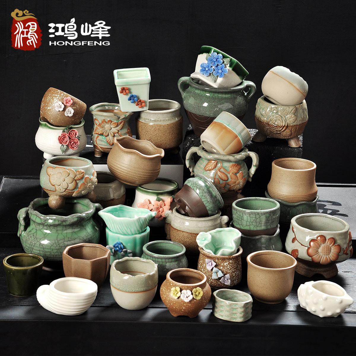 手工古典陶花盆