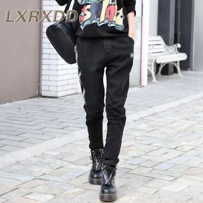 LX春季高腰休闲裤女款韩版青年时尚长裤2018宽松哈伦裤女裤潮9376