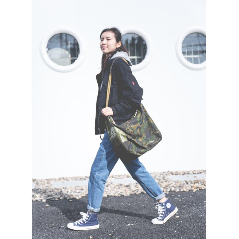 2019春季新品中性女装黑色潮牌帅气学生百搭翻领纯棉短款夹克外套图片