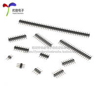 2.0mm pitch Single row pin Straight insert copper pin 1*2P/3/4/5/6/7/8/10/12/20/40P
