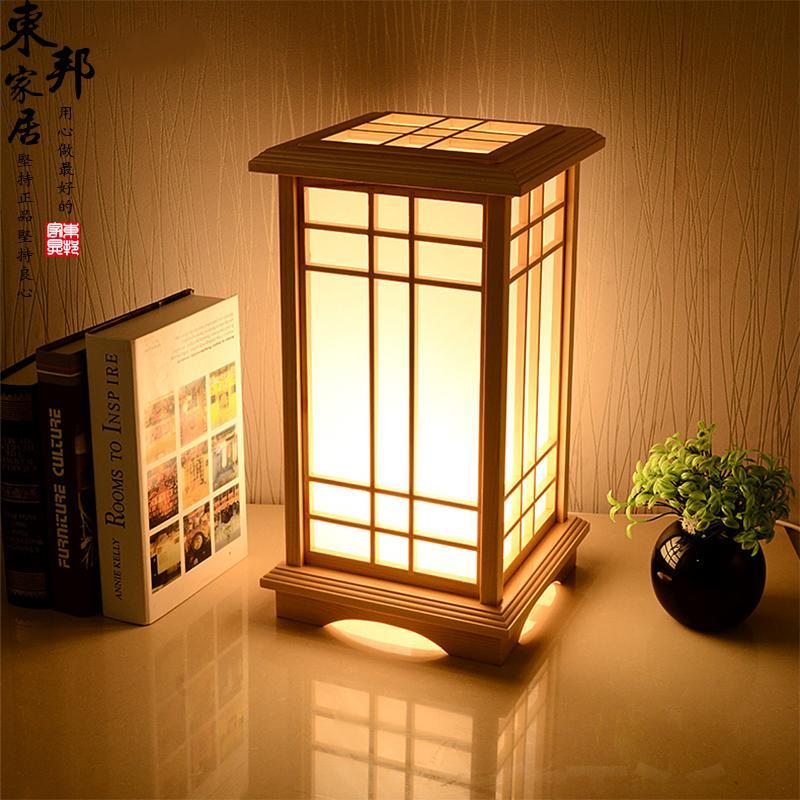 全屋订制榻榻米落地灯实木灯和室落地灯日式客厅卧室障子纸灯包邮
