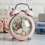 Dragon cat metal bell super loud mute electronic bedside lazy children's children cartoon night light small alarm clock