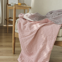 北欧床尾毯简约沙发搭毯人字纹休闲毯空调毯样板房装饰毯床尾搭巾