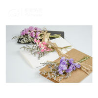 Dried flowers greeting card ins Korea creative girlfriends diy double kraft paper eternal flower birthday gift girl wedding card