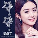 日韩森系女孩五角星星耳环防过敏S925银针饰品韩国个性气质耳钉女