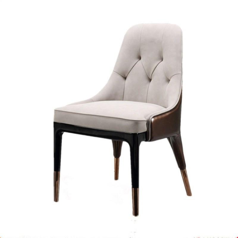 美式实木软包餐椅现代酒店咖啡厅餐椅售楼处会议室洽谈椅可定制