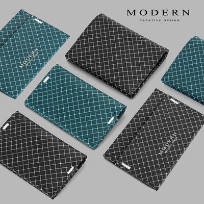 德国MODERN屏蔽卡包小钱包男超薄钱夹黑科技NFC防盗刷防消磁卡套
