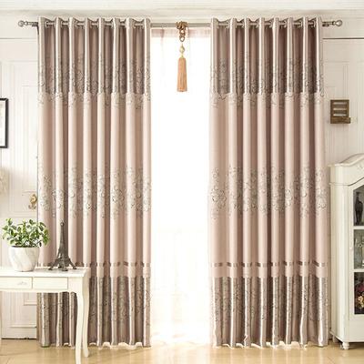 窗帘成品高遮光窗帘布简约现代遮阳台落地窗客厅平面窗卧室飘窗纱