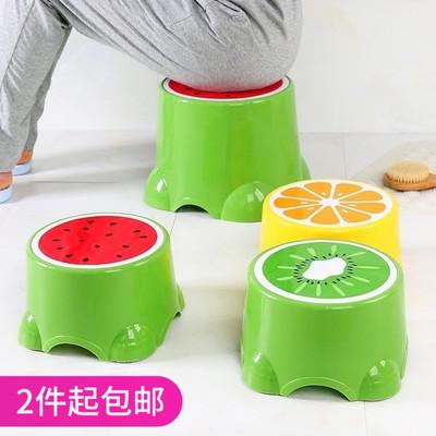 家用塑料凳子可爱卡通儿童凳矮凳小板凳圆凳成人水果宝宝换鞋凳价格